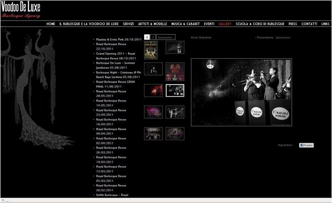 Voodo De Luxe website. Pictures of Royal Burlesque Revue